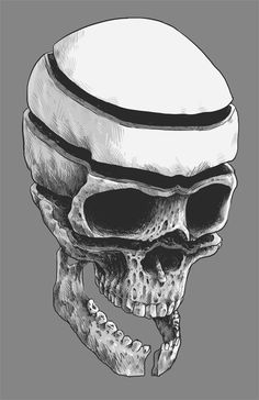 Skull in layers