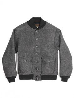"YMCL KY US type A-1 Wool jacket ""Grey"" - NOCLAIM"