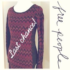 Free People sexy sweater dress 82% cotton sweater dress. Material has some shimmer to it! Side panels are super slimming. Open back makes this sweater sexy! Free People Tops