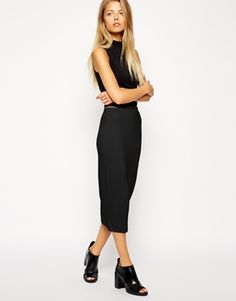 ASOS+Pencil+Skirt+in+Double+Layered+Jersey