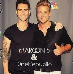 Too much perfection in one picture!! Adam Levigne & Ryan Tedder