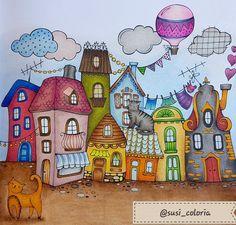"""Aus Rita Berman's """"Mein Sommerspaziergang"""" mit Prismacolor Premier Pencils"""