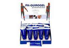 Expositor PH-Quirogel con botes de 75ml.