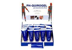 Expositor PH-Quirogel con botes de 75ml.