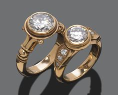 #3005p Mesa Del Ray & #3011 Greenwich Engagement Rings by Marc Williams Goldsmith