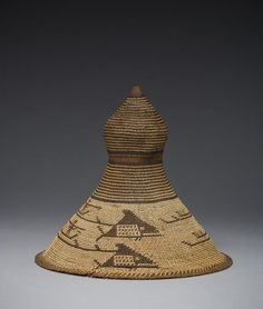 Unknown Nuu-chah-nulth Artist, Hat, 1794. Spruce root and bear grass. Courtesy Denver Art Museum