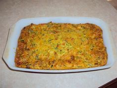 Tasty slice using eggs, vegetables and cheese.