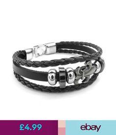 cb662d0367ff Bracelets Men s Jewelry Scouting Floral Hand-Woven Leather Cord Rope Wrap  Bangle Bracelet  ebay  Fashion