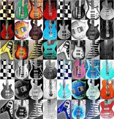 Bass Guitar Collage
