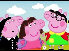 Dibujando a peppa Peppa Pig disfraces divertidos, pepa la cerdita 2016 HD