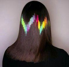 pixelated hair layer by layer great looks Cute Hair Colors, Bright Hair Colors, Cool Hair Color, Hair Stenciling, Pinterest Hair, Fantasy Hair, Coloured Hair, Wild Hair, Dream Hair