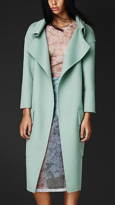 Angora, wool and lace in sorbet shades - Burberry