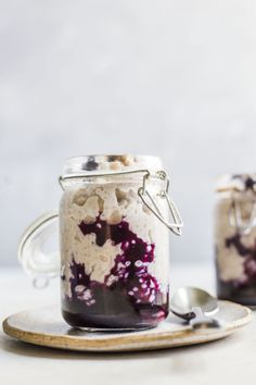 "sweetoothgirl: "" Cinnamon Blueberry Rice Pudding """
