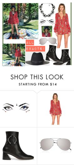 """""""ELEANOR CALDER INSPIRED LOOK:*"""" by costina-raftu ❤ liked on Polyvore featuring Body Bauble, For Love & Lemons, Dorateymur, The Kooples, Yves Saint Laurent and Vanessa Mooney"""