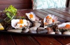 Oysters on a bed of warm or chilled rocks! Brisbane's best Oyster Bar!