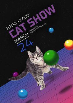 Творческий макет Сабы Алиевой, ученицы 16 потока Осознанного Графдизайна (granich.ru) #granich #graphic_design Inspire, Posters, Woman, Cats, Creative, Design, Gatos, Poster, Cat