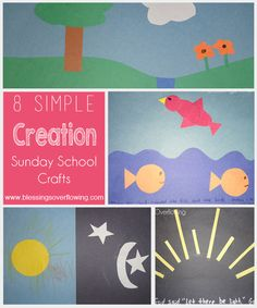 These 8 simple creation Sunday school crafts are sure to be a hit with your child or Sunday school class.