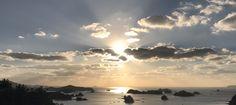 長崎県佐世保市の船越展望所から見える景色ばい#船越展望所 #九十九島 #夕焼け #佐世保