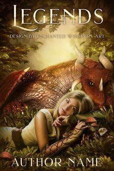 Premade fantasy dragon and maiden cover art design Premade Book Covers, Fantasy Dragon, High Fantasy, Book Cover Design, Cover Art, Author, Game, Books, Prints