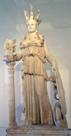 Copia de FIDIAS. Atenea Partenos. S. II. Museo Arqueológico Nacional, Atenas