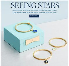 SEEING STARS. introducing a constellation of zodiac-inspired extras. @katespade