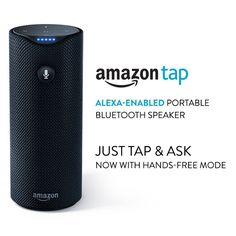 Amazon Tap - Alexa-Enabled Portable Bluetooth Speaker - Great for dorm room! Perfect  speaker and it's portable.