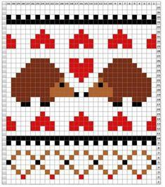 Knitting Wool, Fair Isle Knitting, Knitting Charts, Knitting Patterns, Pixel Crochet, Crochet Chart, Cross Stitch Designs, Cross Stitch Patterns, Fair Isle Chart
