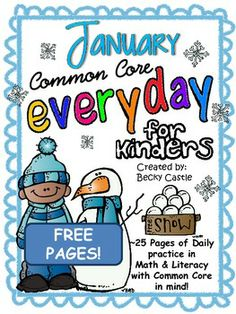 FREE! Morning Work, Daily Work, Homework - Common Core Everyday January sample pages!