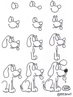 How to draw a sweet doggy