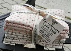 Centennial Shirtings (we have just the gorgeous creams from the collection in this bundle) by Julie Hendricksen for Windham Fabrics... 10 fat quarters per beautiful bundle :)