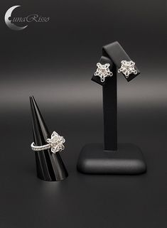 Your place to buy and sell all things handmade Silver Jewellery, Silver Earrings, Diamond Earrings, Jewelry Crafts, Jewelry Box, Cufflinks, Fish, Sterling Silver, Stars