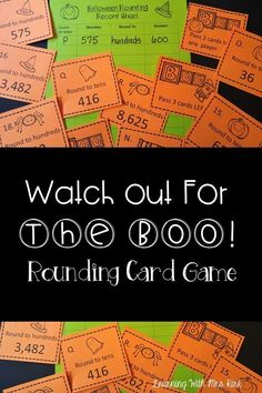 This Halloween themed rounding game is so much fun! Your elementary students will love to play and practice! Great for partner work, centers, early finishers, guided math and more! Rounding Games, Fun Math Games, Math Activities, Math Resources, Math Stations, Math Centers, Addition Games, Math Boards, Halloween Math