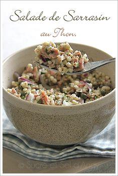 Pensez à utiliser les céréales en salade c'est très bon, une idée également sympa pour un repas emporté dans un bento. Ingrédients * pour une personne * 1/2 tasse de Sarrasin décortiqué (vendu en magasin bio) des câpres vinaigrette maison persil haché...