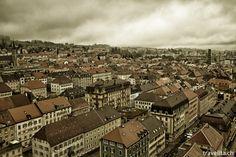 La Chaux-de-Fonds on a rainy day