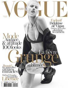 Saskia de Brauw Gets Grunge in Saint Laurent for Vogue Paris September 2013 Cover