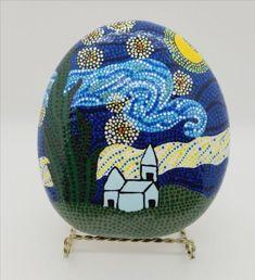 Pebble Painting, Pebble Art, Stone Painting, Painted Vans, Painted Rocks, Etsy Handmade, Handmade Items, Blue Home Decor, Diy Kits