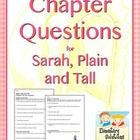 Common Core-Aligned Chapter Questions for use with reading Sarah, Plain and Tall by Patricia MacLachlan. $