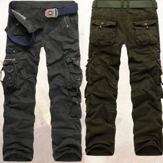 $ 30.71+ free shipping!  Stylish Casual Military Tactical Long Pocket Pockets Pants Trousers Jeans Wear For Men