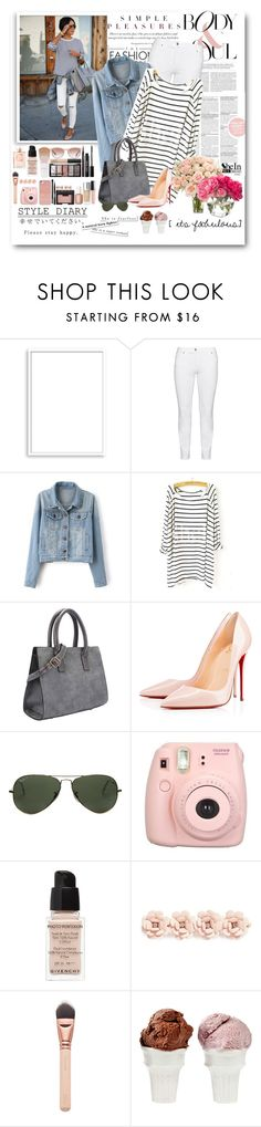 """""""Casual Stripes"""" by bmaroso ❤ liked on Polyvore featuring Bomedo, Steilmann, Christian Louboutin, Ray-Ban, Givenchy, J.Crew, NDI, Sin, women's clothing and women"""