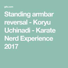 Standing armbar reversal - Koryu Uchinadi - Karate Nerd Experience 2017