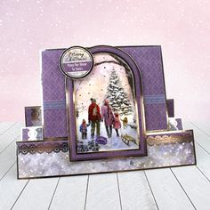 Card created using Hunkydory Crafts' A Family Christmas Topper Set from the White Christmas Topper Collection
