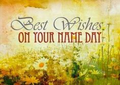 Best wishes on your name day, grunge meadow of daisies card. Personalize any greeting card for no additional cost! Cards are shipped the Next Business Day. Happy Name Day Wishes, Happy Birthday Wishes, Birthday Quotes, Birthday Cards, Christmas Frames, Thankful And Blessed, E Cards, Greeting Cards, Your Name