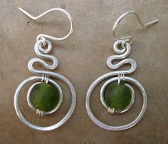 "Mayapple Earrings: ""Mother Earth"""