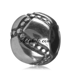 This beautiful super ball .925 Sterling Silver European charm fits Pandora, Biagi Trollbeads, Chamilia, and most charm bracelets find out more at adabele.com
