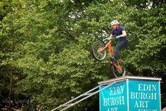 Biking legend Danny McAskill performs as part of the Edinburgh Art Festival.    Pic credit: chris@albainternet.co.uk  Original entry: http://www.blipfoto.com/entry/2236308