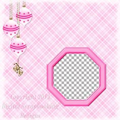 "Layout QP 10A-4 Pink.....Quick Page, Digital Scrapbooking, Christmas Time Collection, 12"" x 12"", 300 dpi, PNG File Format"