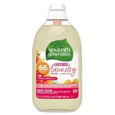 Seventh Generation EasyDose Ultra-Concentrated Laundry Detergent – Tropical Grove – fl oz – Naturliche Seife Seventh Generation Laundry Detergent, Sustainable Supply Chain, 100 Essential Oils, Laundry Supplies, Liquid Laundry Detergent, Disinfectant Spray, Plastic, Change, Stains
