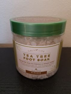 5 Stars: Calily Life Organic Tea Tree Oil Foot Soak with Natural Dead Sea Minerals  17.5 Oz. - Foot Bath Eliminates Odors Fights Fungus Softens and Refreshes Feet  I love this foot soak from Calily. These bath salts are infused with tea tree oil which makes them smell floral and piney. Tea Tree oil is noted for it's anti-microbial and decongestant properties. Using this foot soak can help treat or prevent common foot issues like athlete's foot. It is also great for encouraging healing of the…