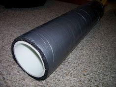 Homemade foam roller