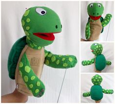 Home made and handmade puppets and soft doll for your kids ,SMS/WA: 08129597095 WIB) Felt Puppets, Puppets For Kids, Hand Puppets, Finger Puppets, Monkey Puppet, Types Of Puppets, Turtle Crafts, Puppet Patterns, Marionette